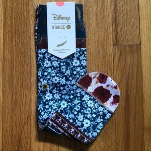 Stance X Disney Socks. Beauty and the Beast. Med.